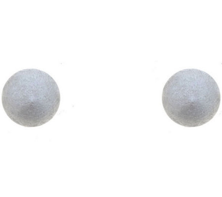 Sterling Silver 4mm Satin Finish Ball Stud Earring