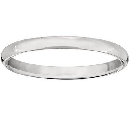 Women's 14K White Gold 2mm Half Round Wedding Band