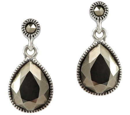 Suspicion Sterling Marcasite Drop Earrings
