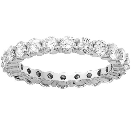 Moissanite 2.20 cttw Eternity Band Ring, 14K Gold