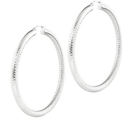 Steel By Design 2 3 4 Double Quilt Hoop Earrings