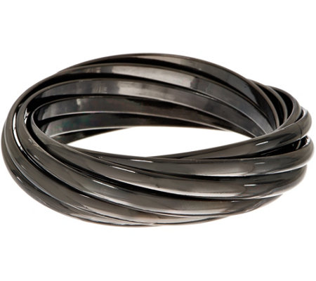 Linea by Louis Dell'Olio Gunmetal Rolling Bangle