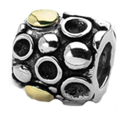 Prerogatives Sterling and 14K Gold Dots Bali Bead