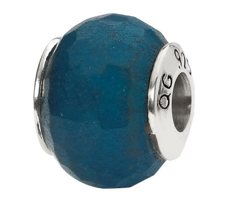 Prerogatives Sterling Dark Blue Quartz GemstoneBead