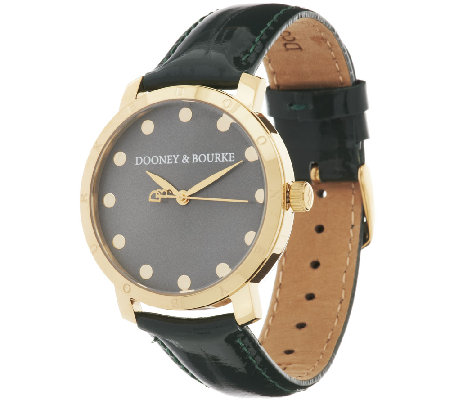 Dooney & Bourke Bethany Patent Leather Strap Watch