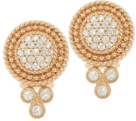 Judith Ripka 14k Gold 1 2 Cttw Diamond Earrings