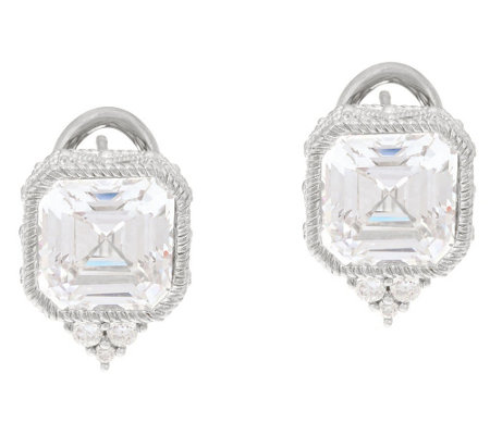 Judith Ripka Sterling Or 14k Clad Diamonique Earrings