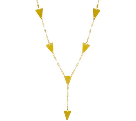 """As Is"" 14K Gold 17"" Station Y-Necklace, 2.1g"