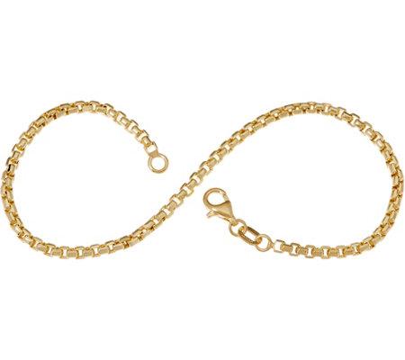 Italian Gold Chain >> Italian Gold 7 1 4 Round Box Chain Bracelet 14k 2 2g Page 1