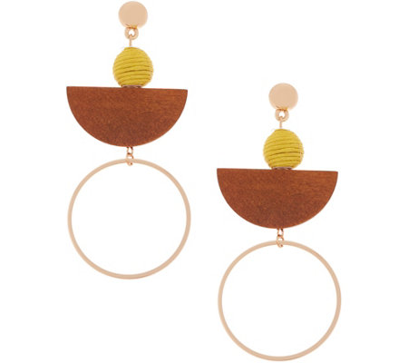 The Zoe - Mixed Media Drop Earrings