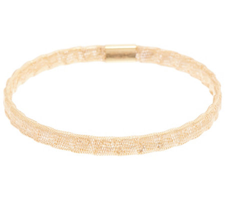 As Is Italian Gold Stretch Bracelet 14k 1 4g