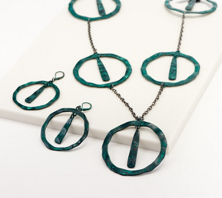 """As Is"" Linea by Louis Dell' Olio Tangiers Necklace Set"