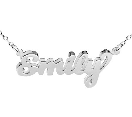 "Sterling Dimensional Personalized Name 18"" N ecklace"