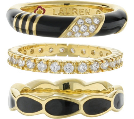 Lauren G Adams Goldtone Stackable Ring Set
