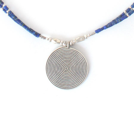 Novica Artisan-Crafted Sterling Lapis Necklace