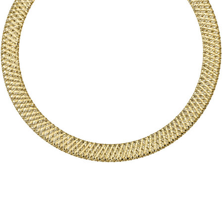 "14K Woven Stretch 17-3/4"" Necklace, 9.9g"