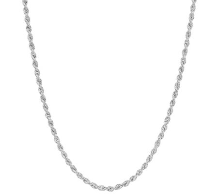"Sterling Silver 18"" Diamond Cut Rope Necklace by Silver Style 8.6g"