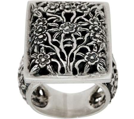 EXEX by Claudia Agudelo Sterling Silver Floral Design Ring