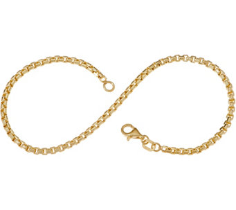 Italian Gold 8 Round Box Chain Bracelet 14k 2 3g J353477