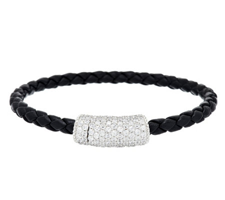 """As Is"" Judith Ripka 2.50 cttw Pave Diamonique Braided Station Bracelet"