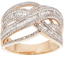 Diamond Crossover Ring, 3/4 cttw, 14K, by Affinity - J354777