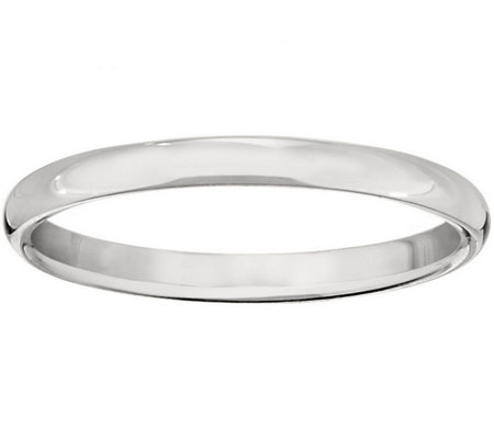 Men's 14K White Gold 2.5mm Half Round Wedding Band
