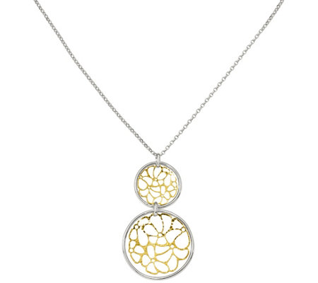 Sterling Flower Pendant w/ Chain, 5.5g by Silver Style