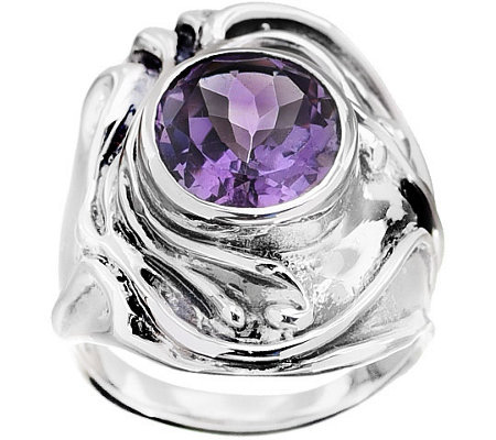 Hagit Sterling & Oval Amethyst Ring