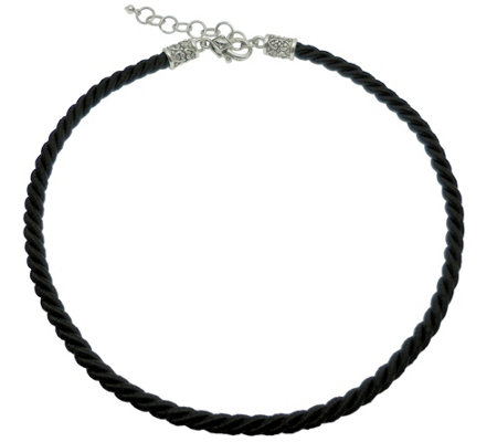 Elyse Ryan Sterling Silver Cord Necklace