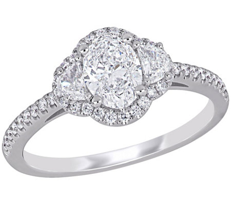 Affinity 1.20 cttw Oval Diamond Halo Engagement Ring, 14K