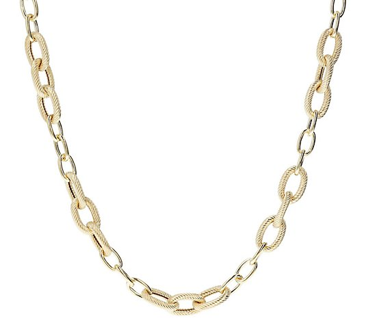 "Judith Ripka Sterling 36"" Polished & Textured Necklace, 74.0g"