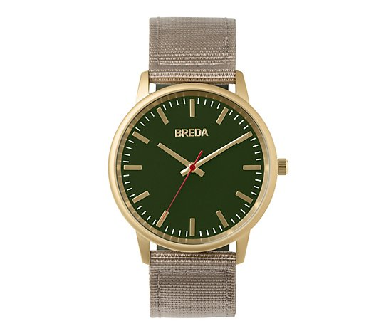 BREDA Men's Valor Khaki Nylon Strap Watch