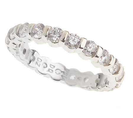 Diamonique Sterling 1.25 ct tw Channel Set Eternity Band