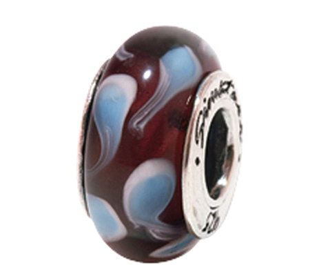 Prerogatives Sterling Blue and Brown Glass Bead