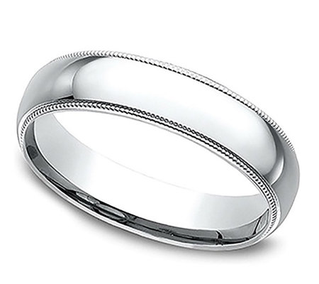 Sterling Silver Milgrain 4MM Unisex Wedding B and Ring