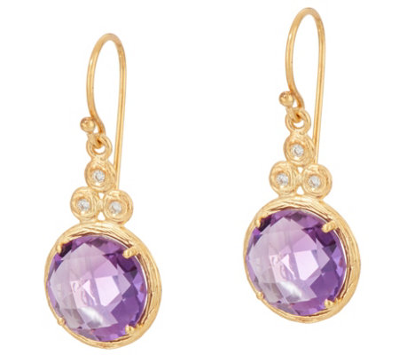 Adi Paz Round Gemstone & Diamond Earrings, 14K