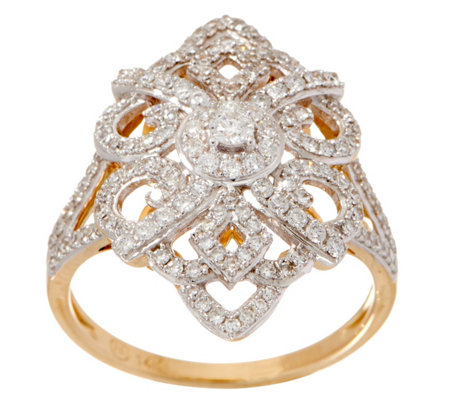 Estate Style Diamond Ring, 5/8 cttw, 14K Gold, by Affinity