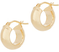 "Italian Gold 1/2"" Polished Hoop Earrings, 14K Gold - J356478"
