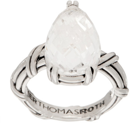 Peter Thomas Roth Sterling Silver Rock Crystal Pear Ring