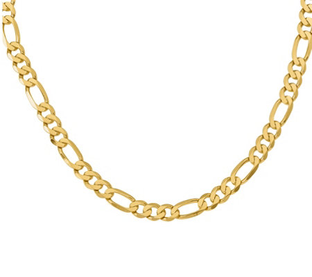"14K Gold 20"" Figaro Necklace, 50.2g"