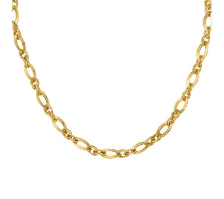 Italian Gold Oversized Curb Link Necklace 14K,12.3g