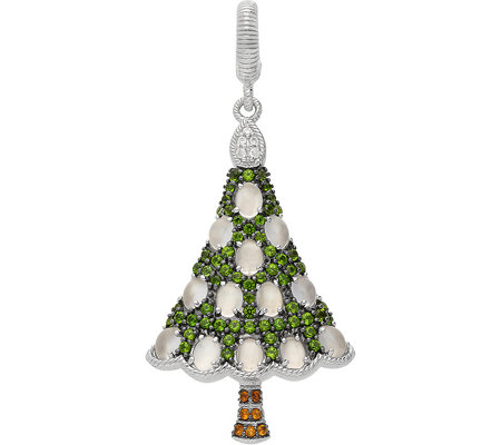 Judith Ripka Sterling Gemstone Christmas Tree Charm