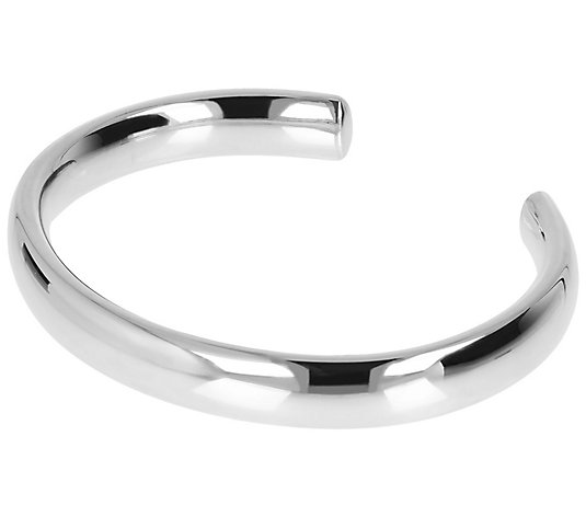Italian Silver Polished Slip-on Cuff