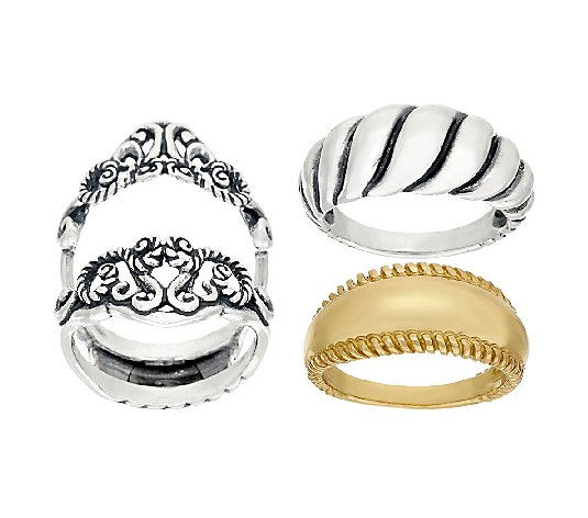 Carolyn Pollack Possibilities Ring Guard & BandSet