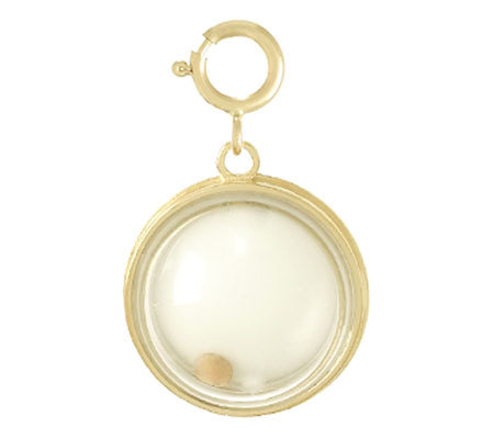 Mustard Seed Dome Charm, 14K