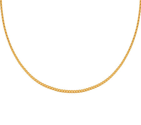 "Veronese 18K Clad 18"" Polished Box Chain"