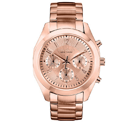 Caravelle New York Women's Rosetone Bracelet Watch