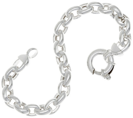 "UltraFine Silver 6-3/4"" Polished Rolo Link Bracelet 14.6g"