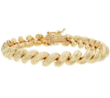 Italian Gold 7 1 4 San Marco Bracelet 14k 19 4g