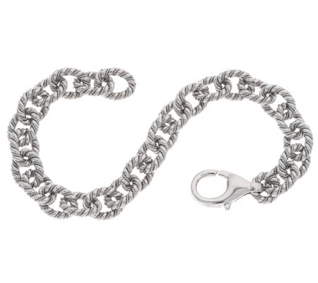 "Sterling Silver 6-3/4"" Twisted Rolo Link Bracelet by Silver Style"